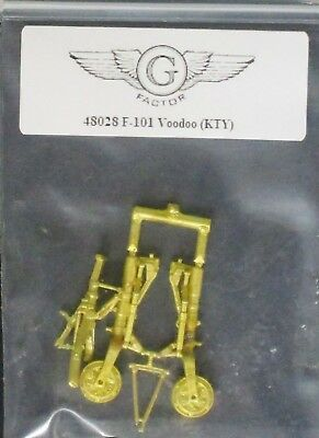 G Factor Models 1/48th Scale F-101 VooDoo Brass Landing Gear Item No. 48028 for sale  Marietta