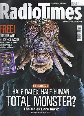 Radio Times Doctor Who David Tennant April 2007 Dalek cover