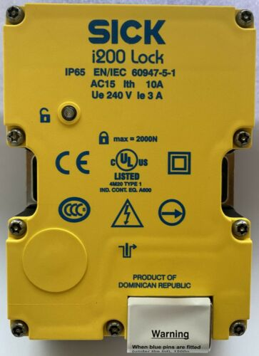 SICK Safety Switch Lock i200-M0413, 4N/C + 1N/O, 240V - IP65