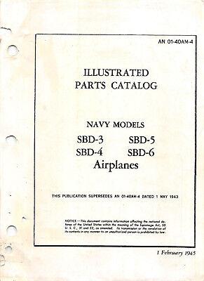 1945 SBD Series Illustrated Parts Catalog Aircraft Manuals Flight Manual -CD Aircraft Parts Catalog Manual
