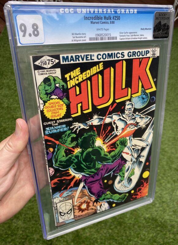 Incredible Hulk 250 CGC 9.8 NM/MT 🔥Rocky Mountain Pedigree🔥 WHITE Pages