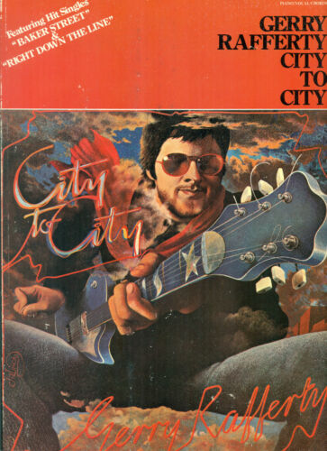 Gerry Rafferty CITY TO CITY songbook Baker Street Down The Line sheet music book