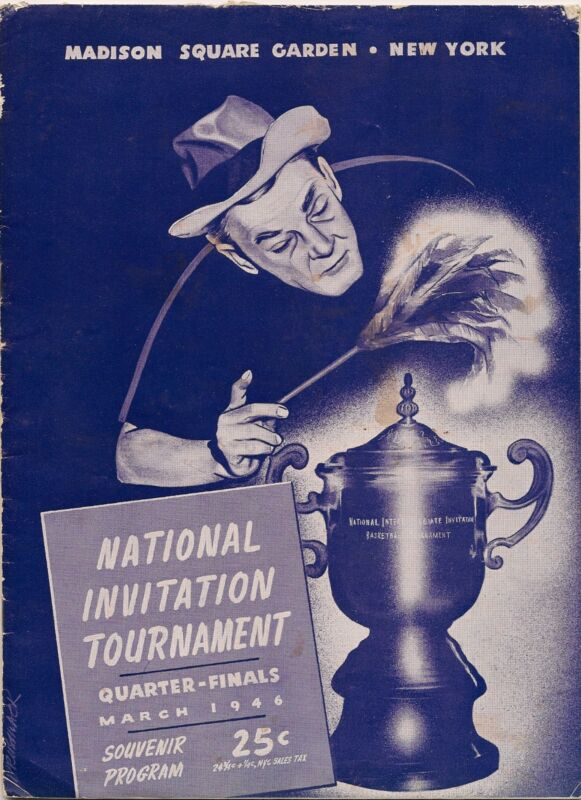 1946 NIT Program Kentucky Rules RARE!!