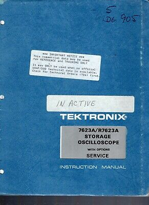 Original Tektronix 7623a R7623a Storage Oscilloscope Service Instruction Manual