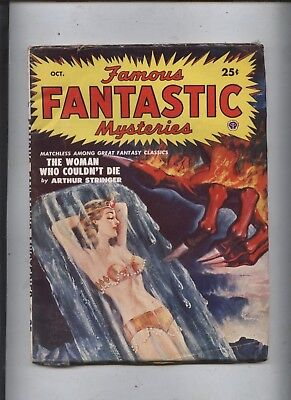 Famous Fantastic Mysteries Science Fiction Pulp Magazine 12  50 Stuning Pinup Cv