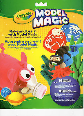4 Crayola Model Magic Make and Learn Activity Packet - FOR Modeling Clay - NEW