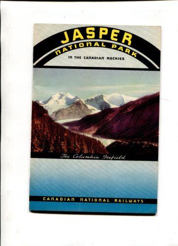 Vintage Travel Booklet JASPER National Park CANADIAN NATIONAL RAILWAYS 1938