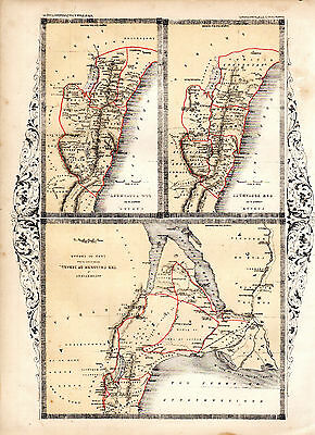 HOLY LAND PRINTS - THE LAND OF CANAAN AS DESCRIBED IN BOTH TESTAMENTS (c1855-60)