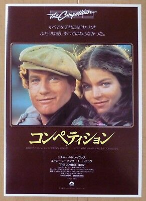 The Competition JAPAN CHIRASHI MOVIE MINI POSTER 1981 B5 Richard Dreyfuss Amy