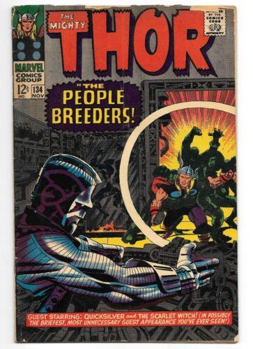 Thor #134 - 1st App Of High Evolutionary & Man-Beast - Marvel (1966)