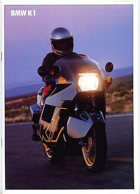 BMW K1 brochure Prospekt, 1988 (German text)