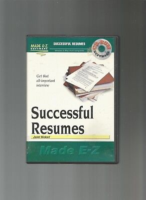 Made Ez Software - Successful Resumes Made EZ by Janet Nickart (Win/ Mac), CD