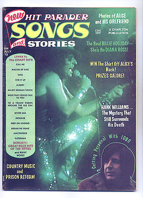 Hit Parader #108 July 1973 Fine Rock n' Roll Magazine ~ Alice Cooper Country