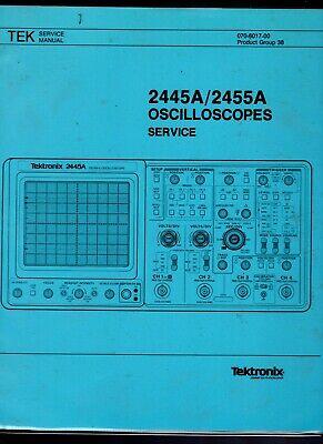 Original Tektronix 2445a2455a Oscilloscope Service Manual 070-6017-00