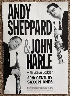 Andy Sheppard & John Harle - 20th Century Saxophones Concert Programme 1995