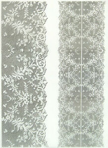 Printed Translucent/Vellum Scrapbook  Paper A/4 Lace White 2