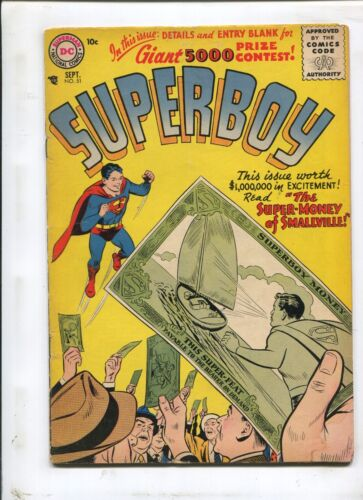 "SUPERBOY #51 - ""THE SUPER-MONEY OF SMALLVILLE!"" (4.5) 1956"