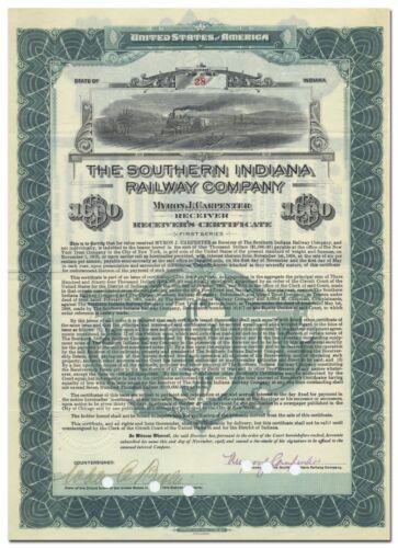 Southern Indiana Railway Company Bond Certificate