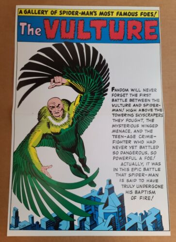Vulture pinup Amazing Spider-Man Annual Marvel Comics Poster by Steve Ditko