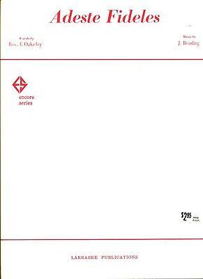 Adeste Fideles Piano - OAKELEY AREADING ADESTE FIDELES SHEET MUSIC-PIANO/VOCAL/GUITAR-RARE-1963-NEW!!