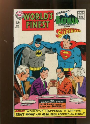 WORLDS FINEST #172 (7.5) SUPERMAN AND BATMAN BROTHERS! 1967