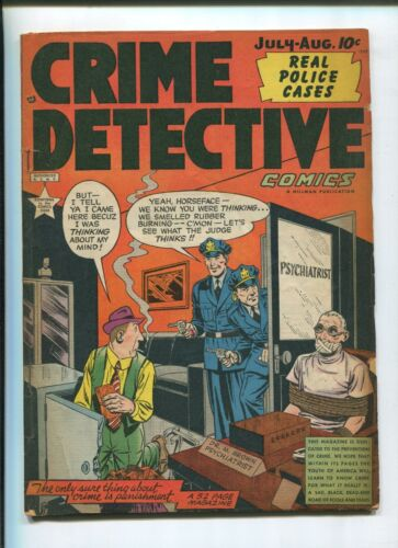 CRIME DETECTIVE #9 (6.0) REAL POLICE CASES! 1949