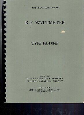 Original Bird Fa-1584f Rf Wattmeter Instruction Booklet
