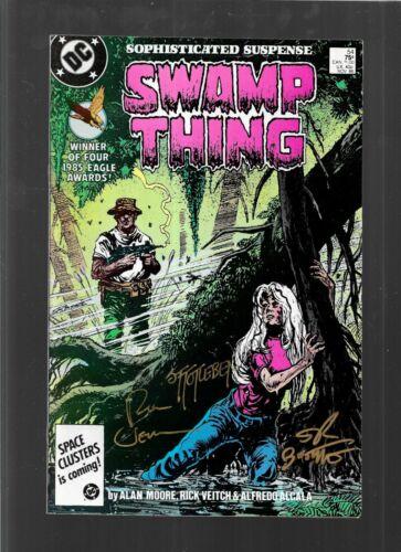 Swamp Thing 54 1986 signed Stephen Bissette Rick Veitch & John Totleben Mid-Ohio