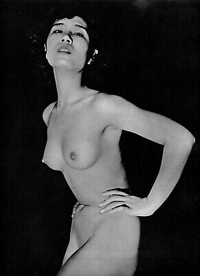 ASIAN FEMALE NUDE #5 Oriental JAPAN Art Print JOHN EVERARD 1955 Original