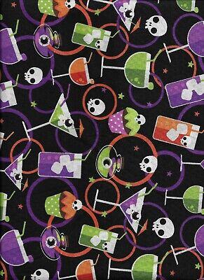 New Halloween Fun Toxic Tonics 100% Cotton Fabric by the Half Yard