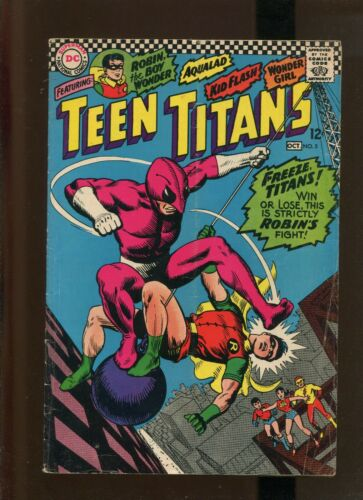 TEEN TITANS #5 (9.2) THE PERILOUS CAPERS OF THE TERRIBLE TEENS!! 1966