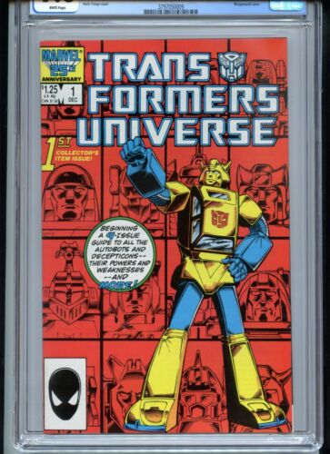 Transformers Universe #1 CGC 9.8 White Pages