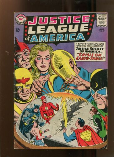 JUSTICE LEAGUE OF AMERICA #29 (4.0) CRISIS ON EARTH THREE! 1964
