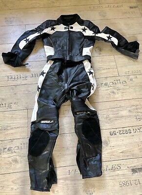 Bogotto ST-Evo 2-Teiler Damen Motorrad Lederkombi 46 Schwarz//Wei/ß