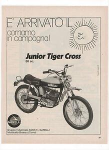 Pubblicita-1972-JUNIOR-TIGER-CROSS-GARELLI-MOTO-MOTOR-advert-werbung-publicite