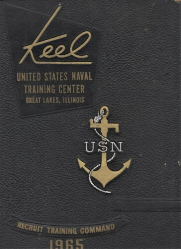 """1965 """"Keel""""-US Naval Training Yearbook-Great Lakes, IL-1st Rgt. 14th Bat. Co 201"""