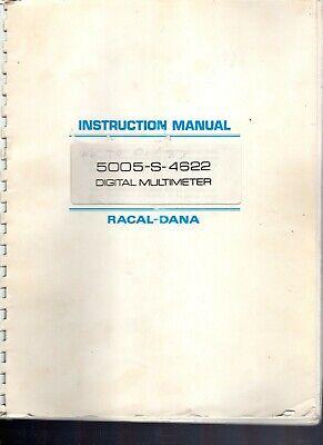 Original Racal-dana Model 5005-s-4622 Digital Multmeter Inst. Manual 1981