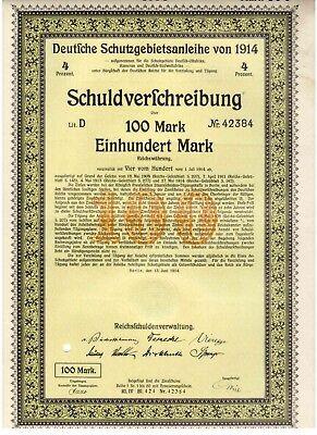 Deutsche Schutzgebietsanleihe von 1914 Berlin