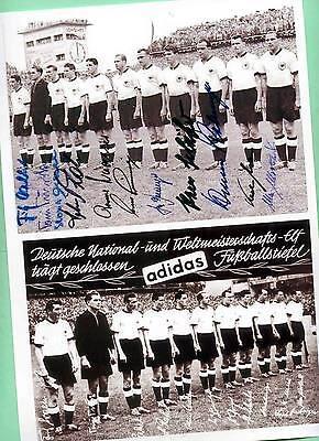 WM Deutschland 1954 - 2 AK Bilder - Print Copies + 4 AK Fotos WM 1954 signiert