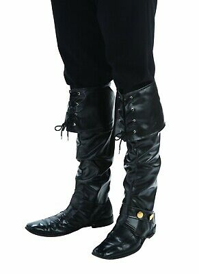 Forum Novelties Deluxe Pirate Boot Top Covers Halloween Costume Accessory 65290 (Pirate Costume Boot Covers)