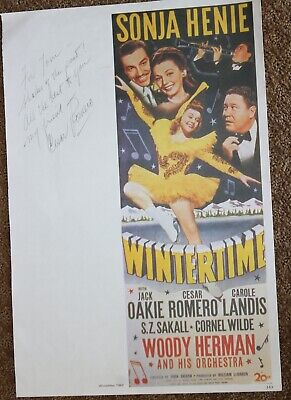 CESAR ROMERO SIGNED AUTOGRAPH WINTERTIME LOBBY CARD PHOTO PHOTOGRAPH