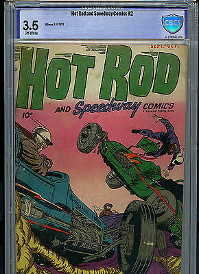 Hot Rod & Speedway #2 Hillman Golden Age CBCS Graded 3.5 1952