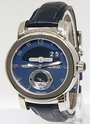 Ulysse Nardin 160th Anniversary 18k White Gold Mens Watch 1600-100 Box/Papers