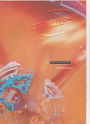 DAWES CYCLE BICYCLE BROCHURE / POSTER - POWER OF PERFORMANCE