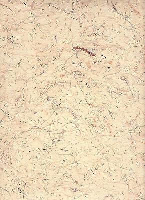 Bananenpapier 35 g/qm, 47 x 64 cm Naturpapier mit Fasern naturweiss