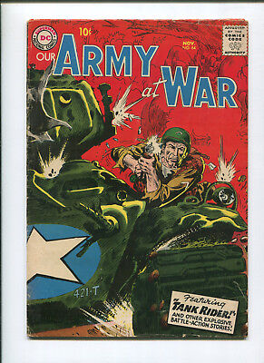 Our Army at War #64 (3.5) Featuring Tank Rider - 1957