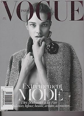 Vogue Paris Magazine No.925 March 2012,Natalia Vodianova,Arizona Muse,Natasha Po
