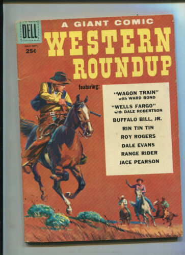 DELL GIANT WESTERN ROUNDUP #23 (6.0)  FILE COPY!