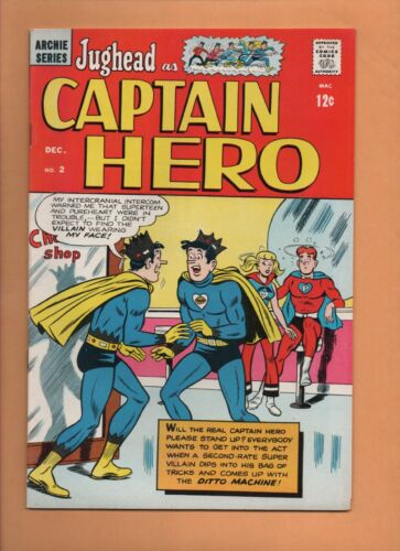Jughead as Captain Hero #2 Archie Comics 1966 VF+