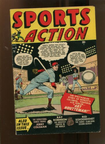 SPORTS ACTION #4 (6.0) ART HOUTTEMAN! 1950